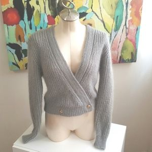 Sweaters - Gray Mohair Blend Sweater